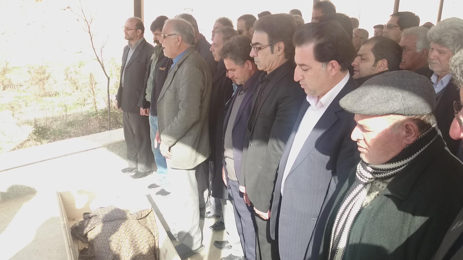 تشییع و تدفین پیکر استاد حمید ایزدپناه